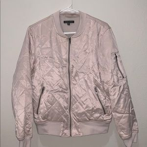 KENDALL & KYLIE PINK QUILTED BOMBER JACKET